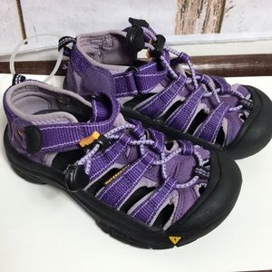 Purple girls keen sandals
